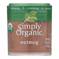 Simply Organic Nutmeg - Organic - Ground - .53 oz - Case of 6