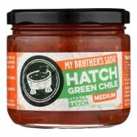 My Brother's Salsa, Medium Hatch Green Chile  - Case of 6 - 11 OZ - 11 OZ