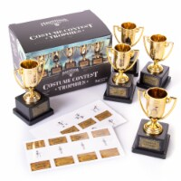 Costume Party & Contest Trophies, 5-pack with Stickers