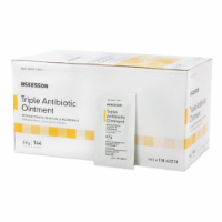 First Aid Antibiotic McKesson Brand Ointment 0.9 Gram Individual Packet (144 BX) - 1