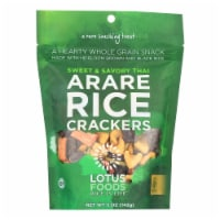 Lotus Foods Arare Rice Crackers - Sweet and Savory Thai - Case of 8 - 5 oz. - 5 OZ