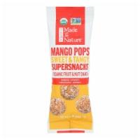 Made In Nature Mango Pops Supersnacks Organic Fruit & Nut Snack - Case of 10 - 1.60 OZ - 1.60 OZ