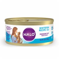 Halo Grain Free Natural Indoor Whitefish Recipe Wet Cat Food