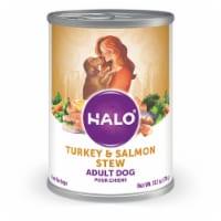 HALO Turkey & Salmon Stew Natural Wet Dog Food