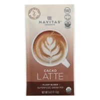 Navitas Organics - Latte Cacao - Case of 10 - 0.42 OZ - Case of 10 - 0.42 OZ each