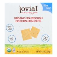 Jovial - Sourdough Einkorn Crackers - Sea Salt - Case of 10 - 4.5 oz.
