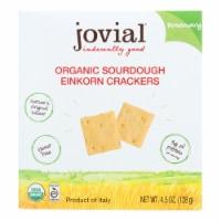 Jovial - Sourdough Einkorn Crackers - Rosemary - Case of 10 - 4.5 oz.