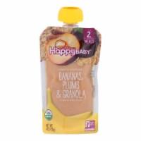 Happy Baby Organic Baby Food - Banana - Plum - Granola - Case of 16 - 4 oz