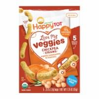 Happy Tot Organic Chickpea Straws - Sweet Potato & Rosemary - Case of 6 - 1.25 oz - 6