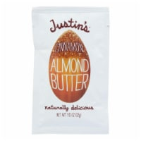 Justin's Nut Butter Squeeze Pack - Almond Butter - Cinnamon - Case of 10 - 1.15 oz. - Case of 10 - 1.15 OZ each