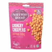 Saffron Road Crunchy Chickpeas - Korean BBQ - Case of 12 - 6 oz.