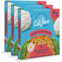 Cali'flour Foods Tradtional Sweet Red Pepper - 3-Pack