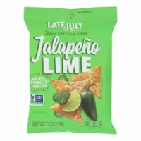 Late July Snacks Tortilla Chips - Jalapeno Lime Clasico - Case of 24 - 1.5 oz. - 1.5 OZ