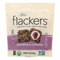 Flackers Organic Cinnamon & Currants Flax Seed Crackers - 6 ct / 5 oz
