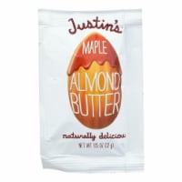 Justin's Nut Butter Squeeze Pack - Almond Butter - Maple - Case of 10 - 1.15 oz. - Case of 10 - 1.15 OZ each