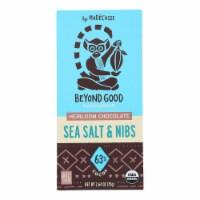 Beyond Good - Bar Sea Salt &Nibs Madagascar - Case of 10-2.64 OZ - Case of 10 - 2.64 OZ each