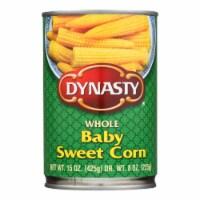 Dynasty Whole Baby Sweet Corn - Case of 12 - 15 oz. - Case of 12 - 15 OZ each