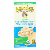 Annies Macaroni and Cheese Whole Wheat Shells and White Cheddar - 6 oz - case of 12 - Case of 12 - 6 OZ each