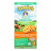 Annies Macaroni and Cheese Grass Fed - Shells and Real Aged Cheddar - 6 oz - case of 12 - Case of 12 - 6 OZ each