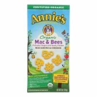 Annie's Homegrown Organic Mac and Bees Macaroni and Cheese - Case of 12 - 6 oz.