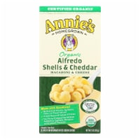 Annies Macaroni and Cheese - Organic - Alfredo Shells and Cheddar - 6 oz - case of 12