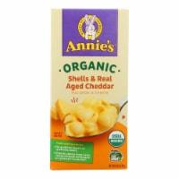 Annies Organic Shells and Real Aged Cheddar Macaroni and Cheese - Case of 12 - 6 oz. - Case of 12 - 6 OZ each