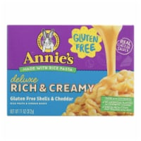 Annies Rice Pasta Dinner Creamy Deluxe Extra Cheesy Cheddar Sauce 11 oz - case of 12 - Case of 12 - 11 OZ each