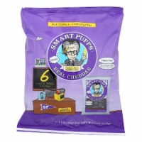 Pirate Brands Smart Puff - Real Wisconsin Cheddar - Case of 12 - 1 oz.