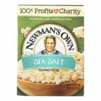 Newman's Own Natural Flavor Microwave - Popcorn - Case of 12 - 10.5 oz. - Case of 12 - 10.5 OZ each