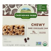 Cascadian Farm Granola Bar - Organic - Chewy - Chocolate Chip - 7.4 oz - case of 12 - Case of 12 - 7.4 OZ each