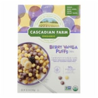 Cascadian Farm Cereal - Organic - Berry Vanilla Puff - 10.25 oz - case of 12 - Case of 12 -10.25 OZ each