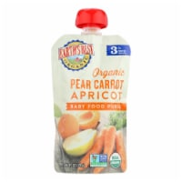 Earth's Best Organic Pear Carrot Apricot Baby Food Puree - Stage 3 - Case of 12 - 4.2 oz. - Case of 12 - 4.2 OZ each