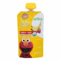 Earth's Best Organic Fruit Yogurt Smoothie - Strawberry Banana - Case of 12 - 4.2 oz.