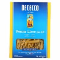 De Cecco Pasta - Pasta - Penne Lisce - Case of 12 - 16 oz - Case of 12 - 16 OZ each