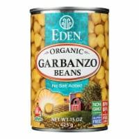 Eden Foods Organic Garbanzo Beans - Case of 12 - 15 oz.