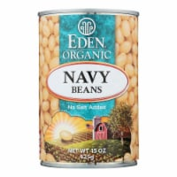 Eden Foods Navy Beans - Organic - Case of 12 - 15 oz. - Case of 12 - 15 OZ each