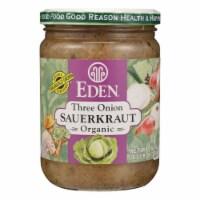 Eden Three Onion Organic Sauerkraut  - Case of 12 - 18 OZ - Case of 12 - 18 OZ each