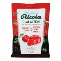 Ricola Dual Action Cough Drops - Cherry - Case of 12 - 19 Pack - Case of 12 - 19 CT each