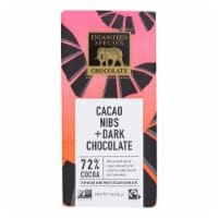 Endangered Species Chocolate Bars - Dark - 72 Percent Cocoa - Cacao Nibs - 3 oz Bars - 12Case - Case of 12 - 3 OZ each