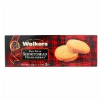 Walkers Shortbread - Pure Butter Highlanders - Case of 12 - 4.7 oz. - Case of 12 - 4.7 OZ each