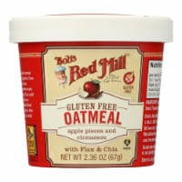 Bob's Red Mill - Gluten Free Oatmeal Cup Apple and Cinnamon - 2.36 oz - Case of 12 - Case of 12 - 2.36 OZ each