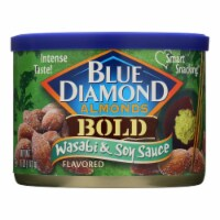 Blue Diamond Bold Wasabi & Soy Almonds  - Case of 12 - 6 OZ - Case of 12 - 6 OZ each