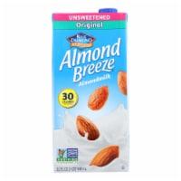 Almond Breeze - Almond Milk - Unsweetened Original - Case of 12 - 32 fl oz. - Case of 12 - 32 FZ each
