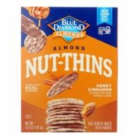 Blue Diamond - Nut Thin Crackers - Honey Cinnamon  - Case of 12 - 4.25 oz. - Case of 12 - 4.25 OZ each
