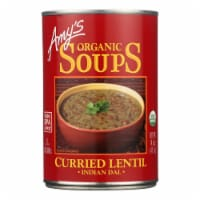 Amy's - Curried Lentil Soup -Made with Organic Ingredients - Case of 12 - 14.5 oz - Case of 12 - 14.5 OZ each