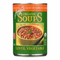 Amy's - Organic Lentil Vegetable Soup - Low Sodium - Case of 12 - 14.5 oz - Case of 12 - 14.5 OZ each
