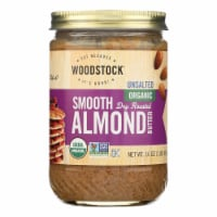 Woodstock Unsalted Organic Smooth Dry Roasted Almond Butter - Case of 12 - 16 OZ - Case of 12 - 16 OZ each