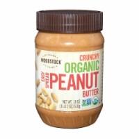 Woodstock Organic Crunchy Easy Spread Peanut Butter - Case of 12 - 18 OZ