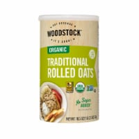 Woodstock Organic Traditional Rolled Oats - Case of 12 - 18.5 OZ - Case of 12 - 18.5 OZ each