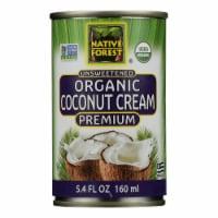 Native Forest Organic Cream Premium - Coconut - Case of 12 - 5.4 Fl oz.